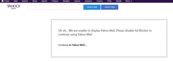 Yahoo Ad Block