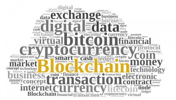 Blockchain word cloud