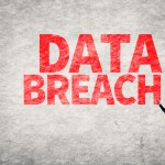 Data breach wall writing man