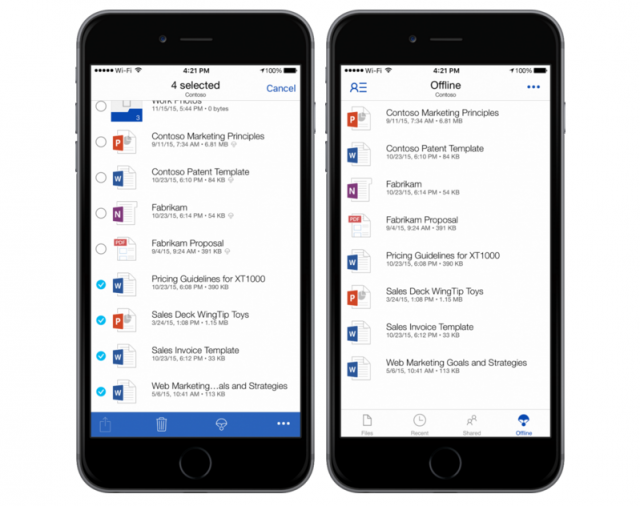 OneDrive for iOS offline storage support