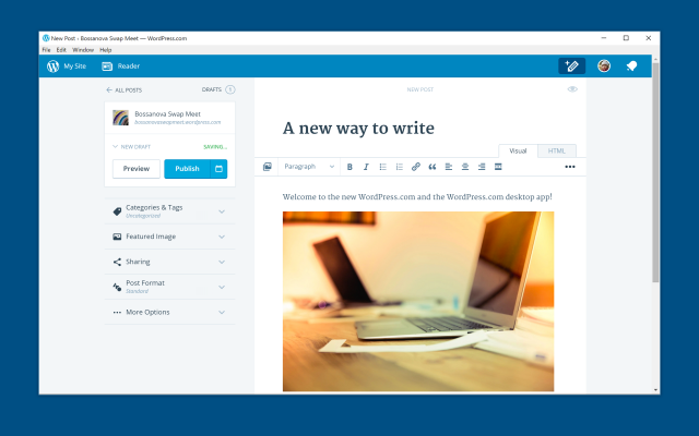 WordPress.com for Windows app