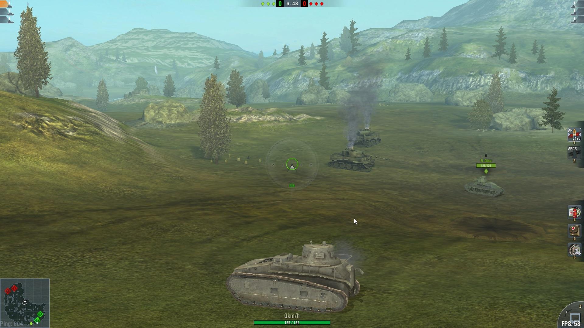 world of tanks how to make mini map b9igger