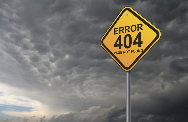 Error 404 dark clouds warning page not found