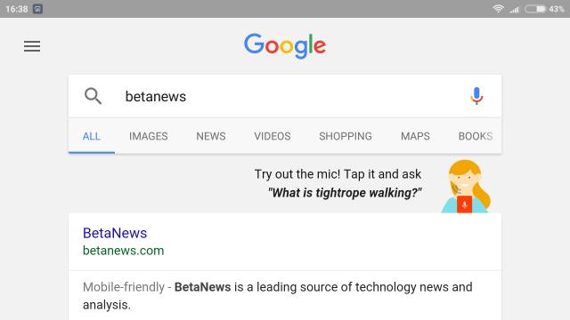 Google Now launcher app search landscape