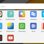 Google Now launcher app drawer lanscape