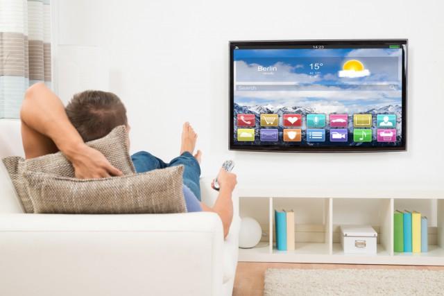 SmartTV man watching TV