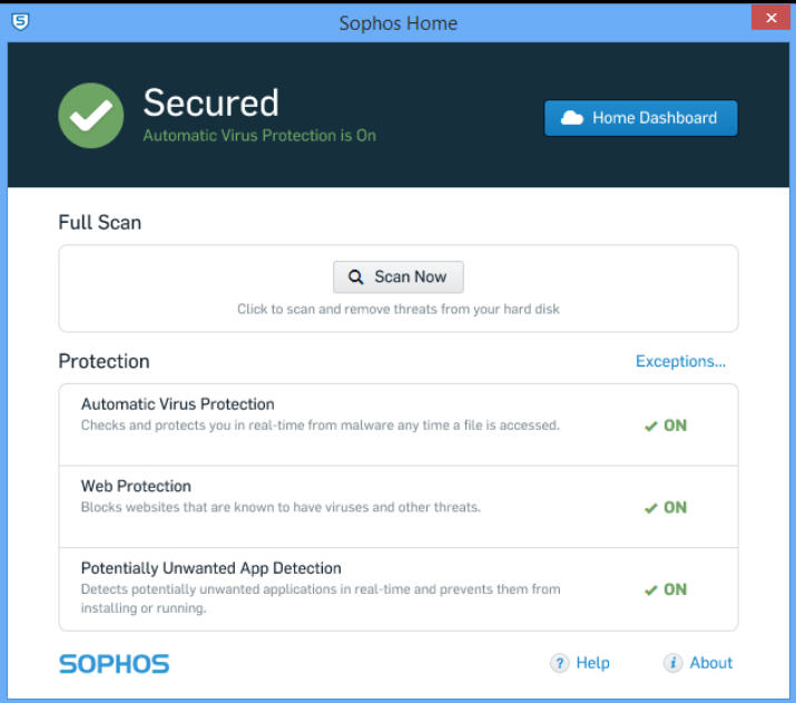 sophos home super simple free antivirus for windows and mac