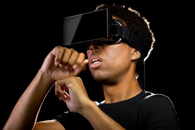 Virtual Reality VR Headset Man