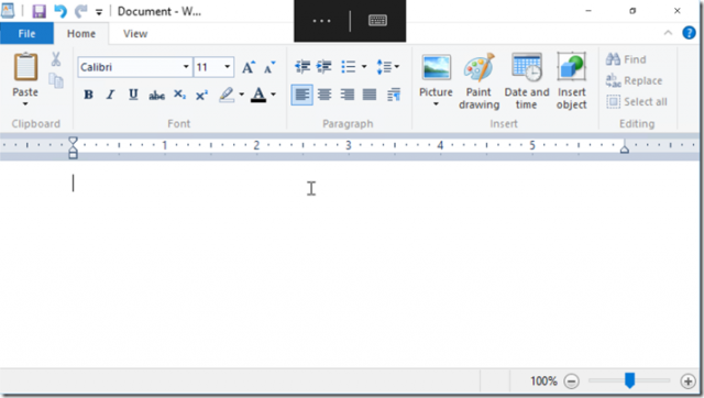 WordPad Continuum Remote Desktop app Windows 10 Mobile