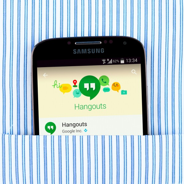 Google Hangouts Samsung smartphone Android