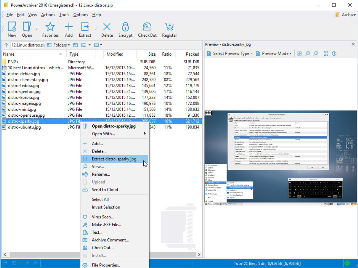 PowerArchiver 2016 screenshot
