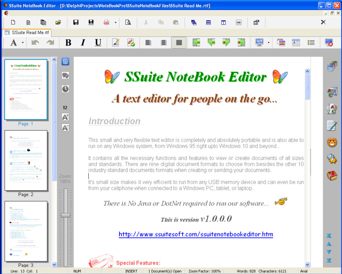 Ssuite Notebook Editor Not Just Another Wordpad Replacement