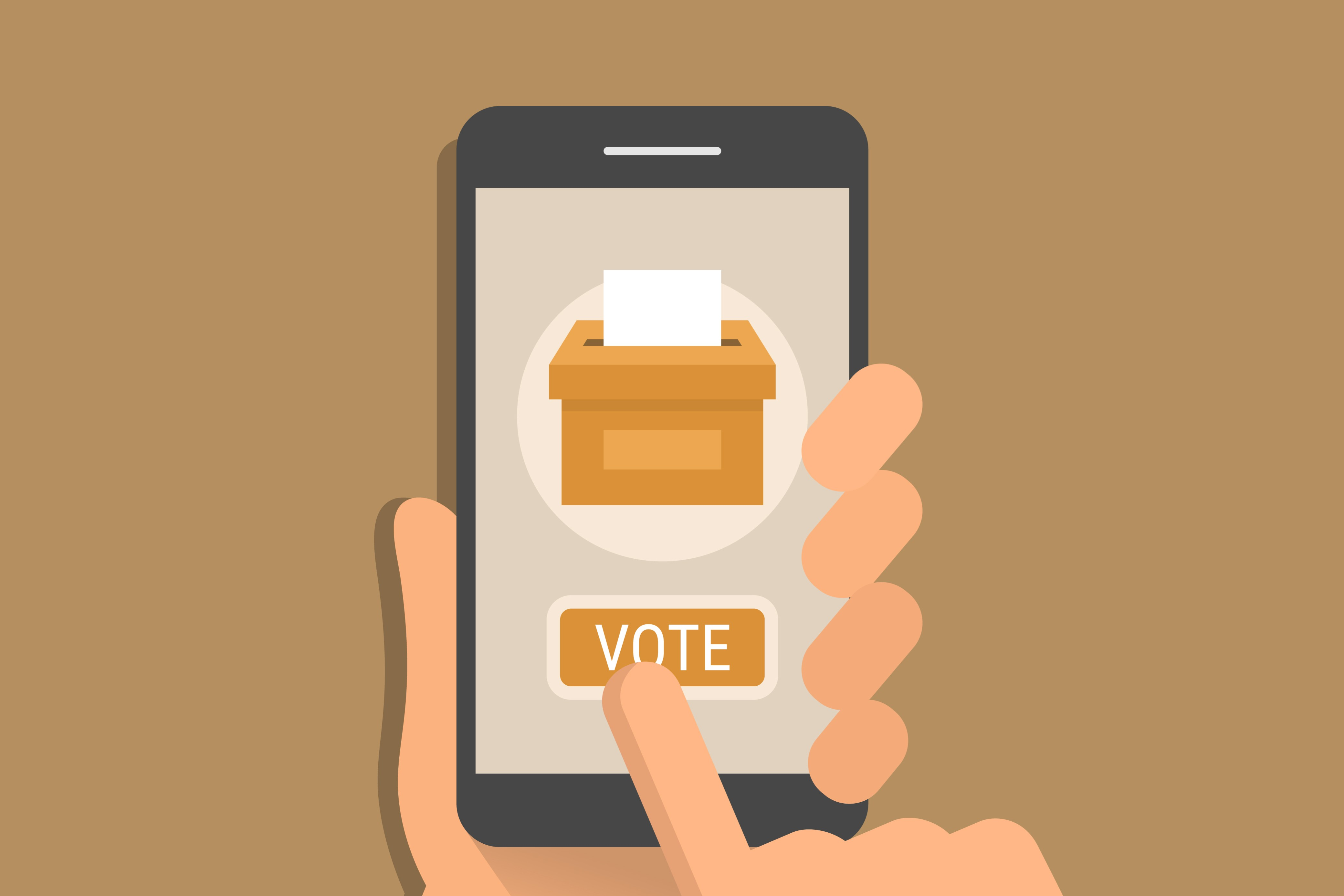 Use Smartphones To Vote For President