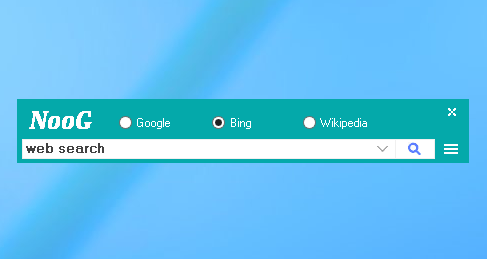NooG is a compact web search bar for your PC desktop | BetaNews