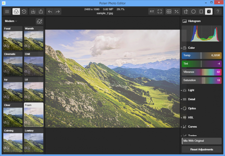 polarr photo editor gets a windows 7 desktop release
