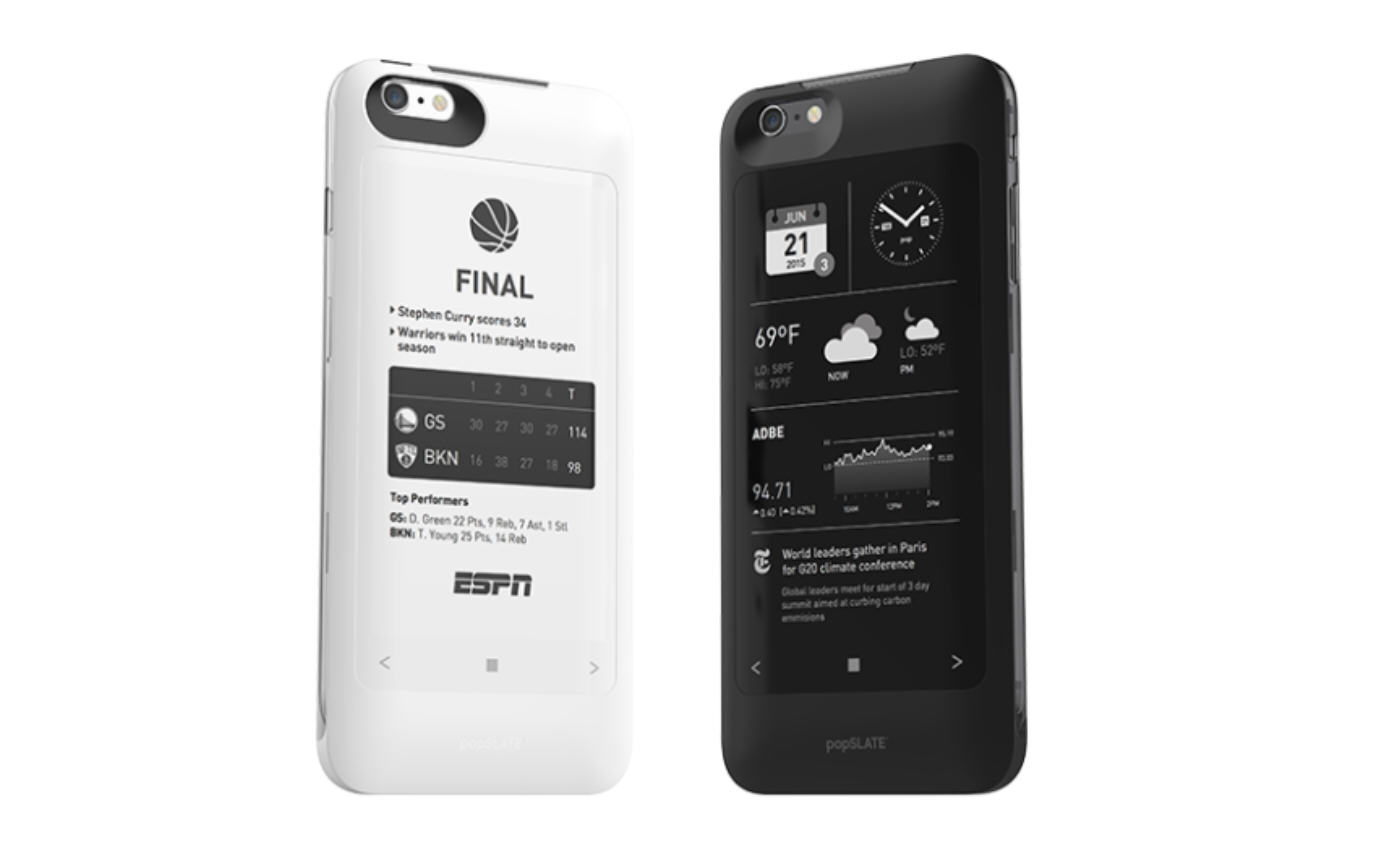 photo image Despite raising over $1 million in funding, iPhone E-ink case creator popSLATE closes down