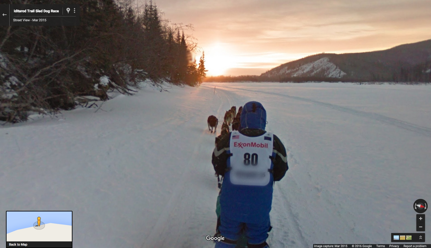 Can\'t get to Alaska? Google Maps brings the drama of the Iditarod to you