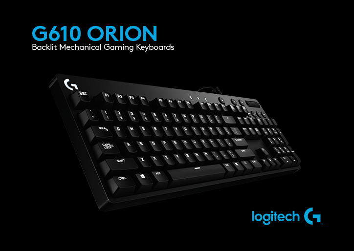 Logitech Unveils G610 Orion Brown And Red Cherry Mx