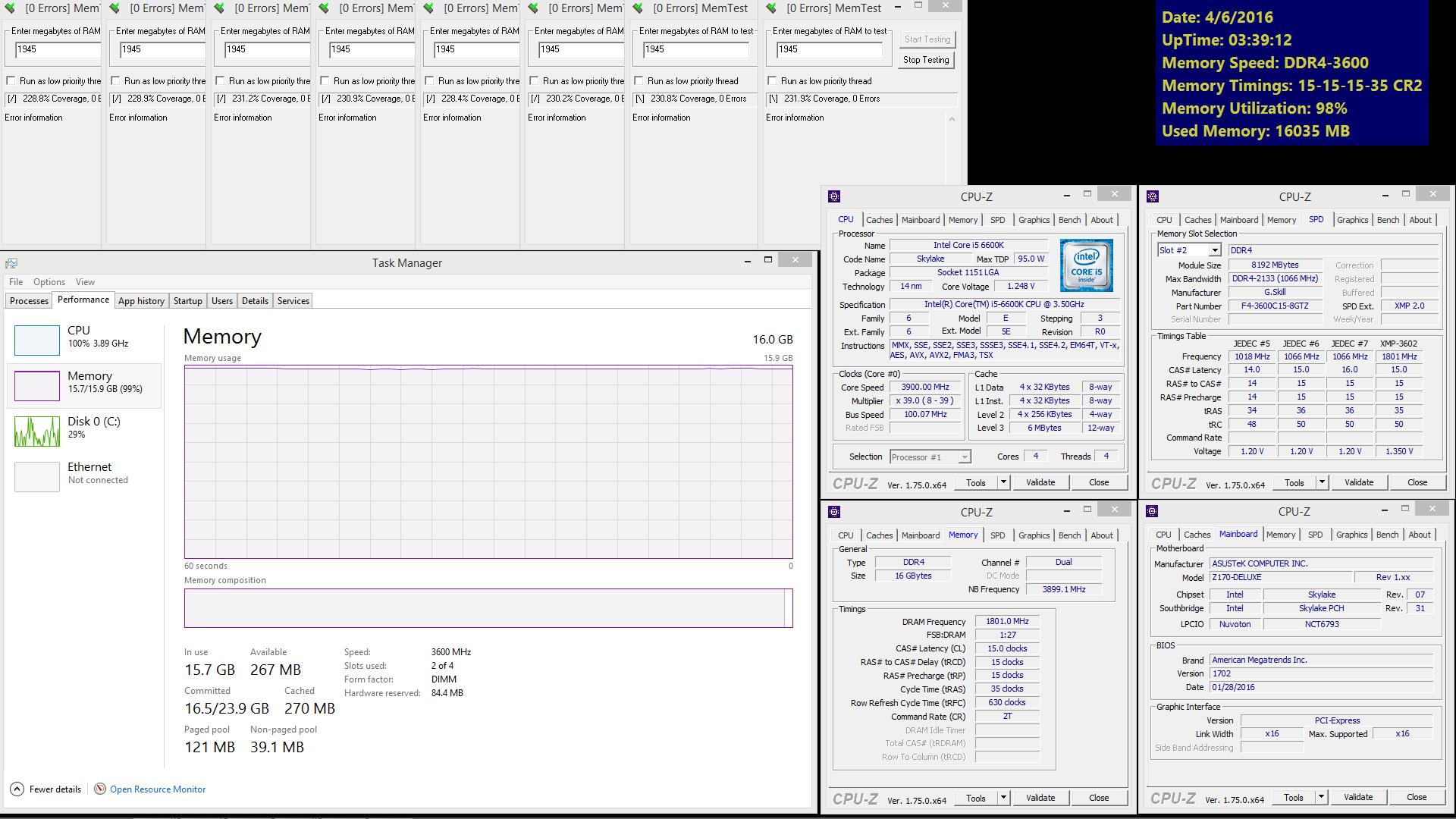 G SKILL unveils Trident Z DDR4-3600MHz 16GB (2x8GB) CL15