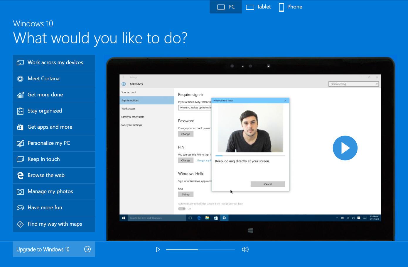 Windows 10 demo