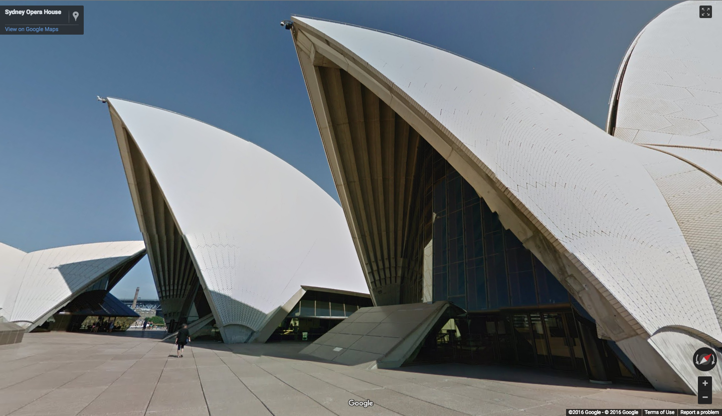 Google maps street view sails through the sydney opera house for See images of my house