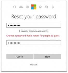 Microsoft Account password strong protection
