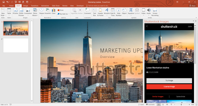 Microsoft PowerPoint presentation Shutterstock photo