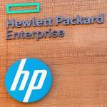 HPE logo sign