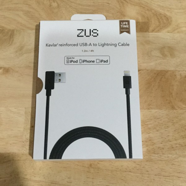 Nonda ZUS Kevlar Reinforced USB A To Lightning Cable For Apple