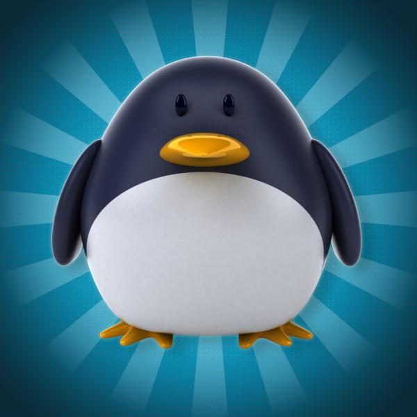 LinuxPenguinBlueFedora