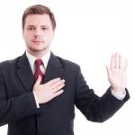 Pledge promise man suit business