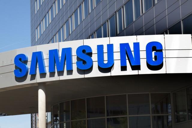 Samsung logo building