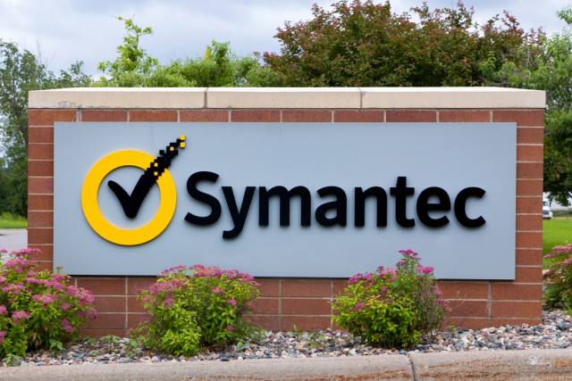 Symantec logo sign