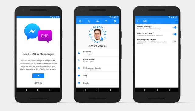 Facebook Messenger For Android Can Now Send Sms And Mms