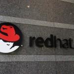 red hat logo sign