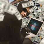 Hacker money laptop