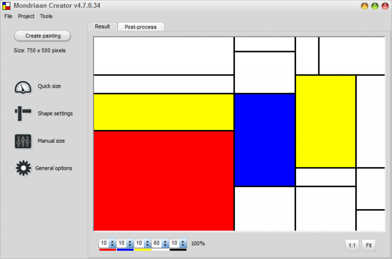 Automatically Generate Abstract Art With Mondriaan Creator