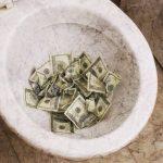 money-in-toilet