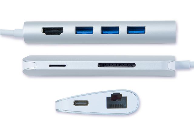 vp6920-sides SMK-Link Electronics unveils USB-C Multi-Port Hub VP6920 for Windows 10 and macOS