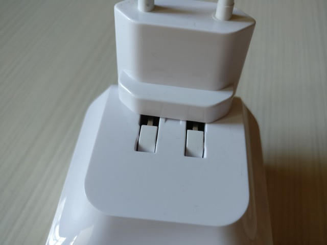 Slide the travel adapter and you are ready to go