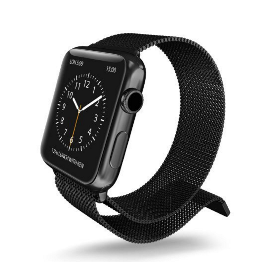X Doria S Stainless Steel Mesh Band For Apple Watch Is