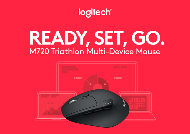 e68cf462a67 Logitech M720 Triathlon Multi-Device Bluetooth Mouse is perfect for ...