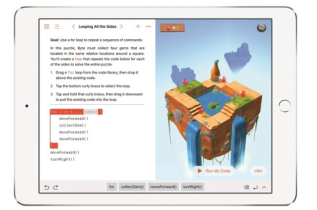 Apple 'Swift Playgrounds' coding app now available for iPad