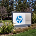 HP logo sign