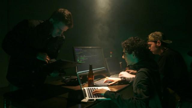 Hackers laptops