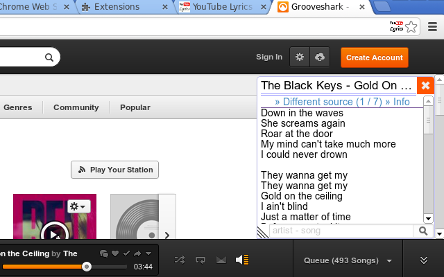 Lyrics Here instantly displays lyrics on YouTube, Spotify