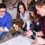 Millennials young work laptop