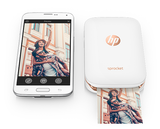 hp sprocket for iphone and android is a cute portable