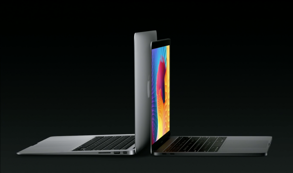 MacBook Pro 13 (right) is smaller and thinner than MacBook Air.