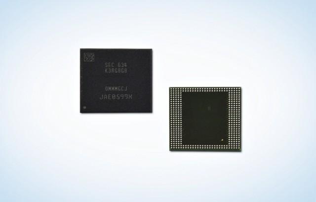 Samsung 8GB LPDDR4 mobile memory RAM module